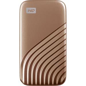 SSD portabil WD My Passport WDBAGF0020BGD-WESN, 2TB, USB 3.2, auriu
