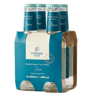 Bautura racoritoare carbogazoasa CIPRIANI Eloise Meditarranean Tonic Water bax 0.2L x 4 sticle