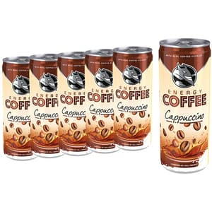 Bautura cafea HELL ENERGY Cappuccino bax 0.25L x 6 cutii