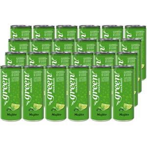 Bautura racoritoare carbogazoasa GREEN Mojito Can bax 0.33L x 24 doze