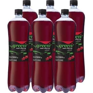 Bautura racoritoare carbogazoasa GREEN Visine bax 1.5L x 6 sticle