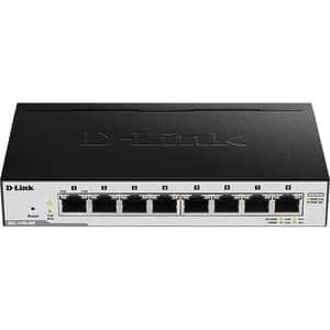Switch D-LINK Smart Managed DGS-1100-08P PoE, 8 porturi Gigabit, negru