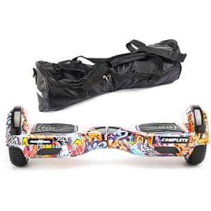 Hoverboard FREEWHEEL Complete, 6.5 inch, viteza 15 km/h, motor 2 x 350W, graffiti albastru + geanta transport cadou