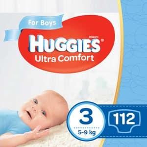 Scutece HUGGIES Ultra Comfort Box nr 3, Baiat, 5-9 kg, 112 buc