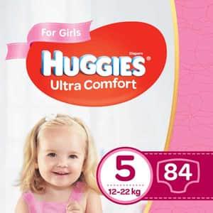 Scutece HUGGIES Ultra Comfort Box nr 5, Fata, 12-22 kg, 84 buc