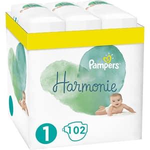 Scutece PAMPERS Harmonie XXL Box nr 1, Unisex, 2-5 kg, 102 buc