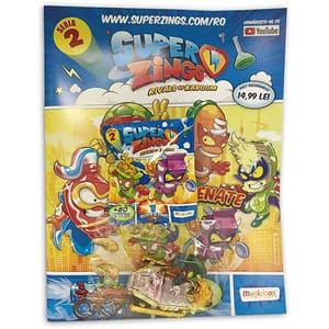 Set figurina si revista SUPERZINGS SZ9999, 3 ani+, multicolor