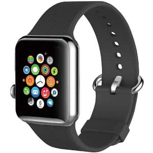 Bratara pentru Apple Watch 38mm, PROMATE Silica-38, silicon, gri