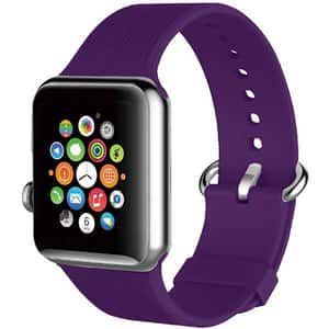Bratara pentru Apple Watch 42mm, PROMATE Silica-42, silicon, violet