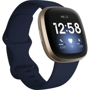 Smartwatch FITBIT Versa 3, Android/iOS, silicon, Midnight/Soft Gold Aluminum
