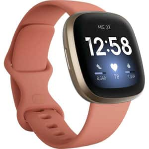 Smartwatch FITBIT Versa 3, Android/iOS, silicon, Pink Clay/Soft Gold Aluminum