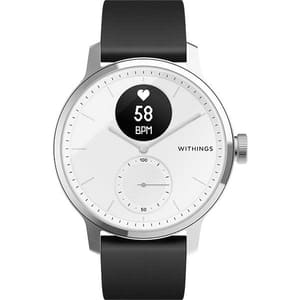 Smartwatch WITHINGS ScanWatch, 42mm, Android/iOS, silicon/otel, alb-negru