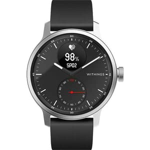 Smartwatch WITHINGS ScanWatch, 42mm, Android/iOS, silicon/otel, negru