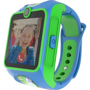 Smartwatch pentru copii MYKI Junior, Android/iOS, 3G, Apel video, silicon, albastru-verde