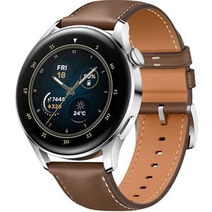 Smartwatch HUAWEI Watch 3 Classic Edition, 4G, Android/iOS, Brown Leather Strap