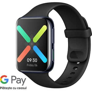 Smartwatch OPPO Watch, 46mm, Wi-Fi, Android/iOS, Aluminum, Black