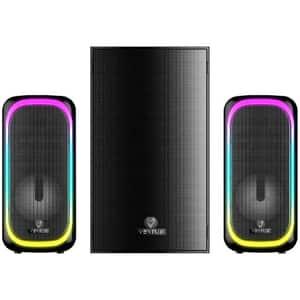 Boxe Gaming VERTUX SonicThunder-50, 2.0, 50W, Bluetooth, negru