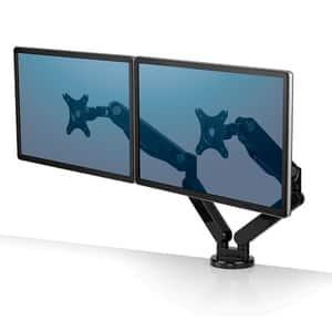 Suport dublu pentru monitor FELLOWES Platinum Series, metal, negru