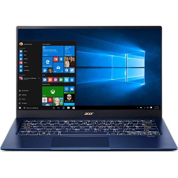 "Laptop ACER Swift 5 SF514-54T-77XV, Intel Core i7-1065G7 pana la 3.9GHz, 14"" Full HD Touch, 8GB, SSD 1TB, Intel Iris Plus Graphics, Windows 10 Home, albastru"