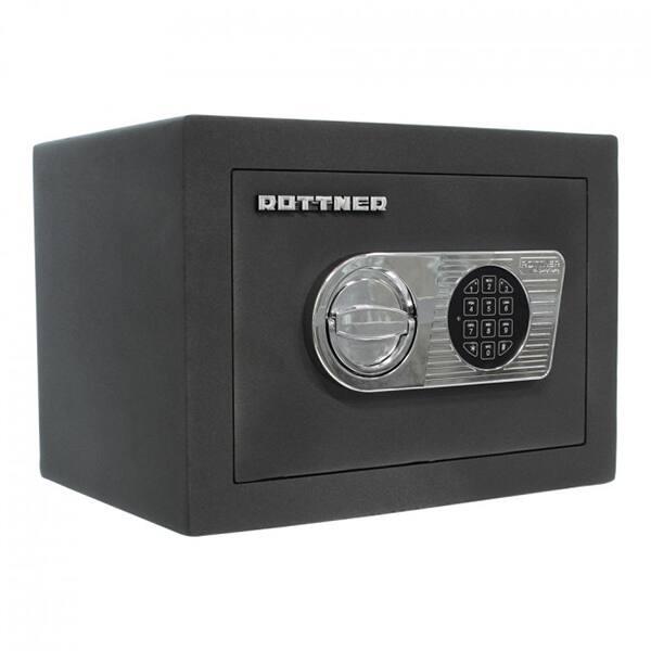 Seif certificat antiefractie ROTTNER Toscana 26 EL, Inchidere electronica, 280 x 370 x 280 mm, antracit