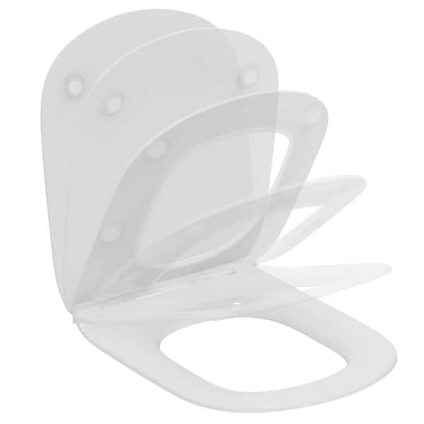 Capac WC IDEAL STANDARD Tesi T3527V1, duroplast, alb