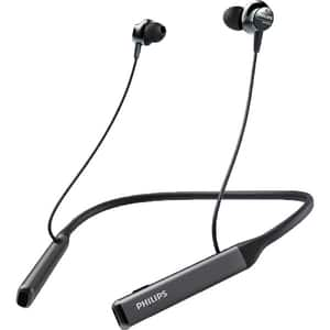 Casti PHILIPS Performance TAPN505BK/00, Bluetooth, In-Ear, Microfon, Hi-Res Audio, Noise Cancelling, negru