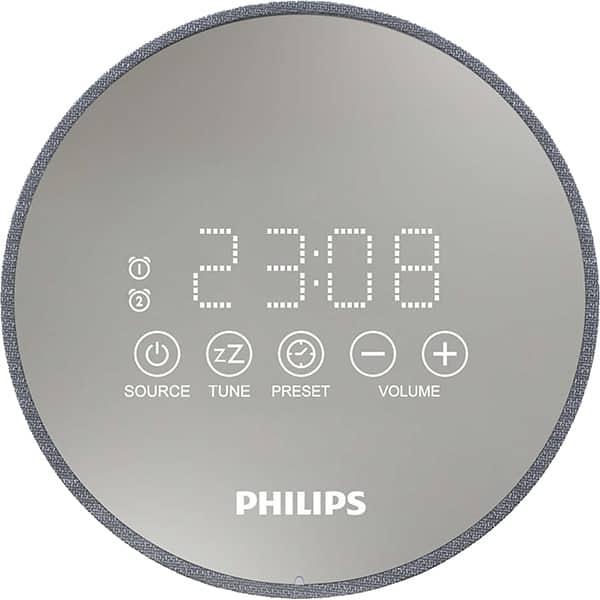 Radio cu ceas PHILIPS TADR402/12, FM, argintiu