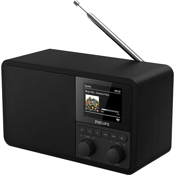 Internet radio PHILIPS TAPR802/12, FM, DAB+, Bluetooth, negru