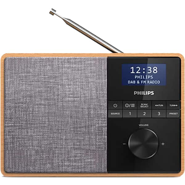 Radio portabil PHILIPS TAR5505/10, Bluetooth, FM, maro