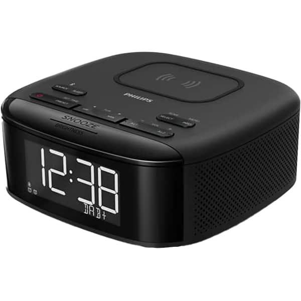 Radio cu ceas PHILIPS TAR7705/10, FM, incarcare telefon, negru