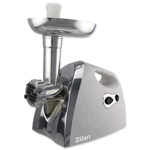Masina de tocat carne ZILAN ZLN7598, 1.6kg/min, 1200W, accesoriu carnati, argintiu-negru