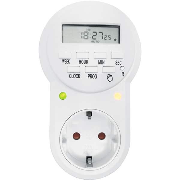 Priza programabila digitala HOME TD 022, IP20, alb
