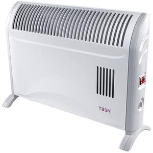 Convector electric de podea TESY CN204ZF, 3 trepte putere, 2000W, Ventilator incorporat, alb-gri