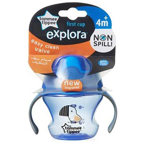 Cana TOMMEE TIPPEE Explora First Trainer, 4 luni +, 150 ml, albastru