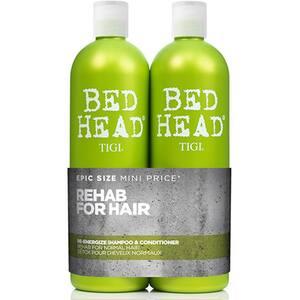 Pachet promo TIGI Bed Head Urban Re-energize: Sampon, 750ml + Balsam de par, 750ml