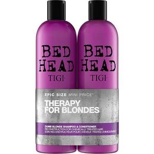 Pachet promo TIGI Bed Head Dumb Blonde: Sampon, 750ml + Balsam de par, 750ml