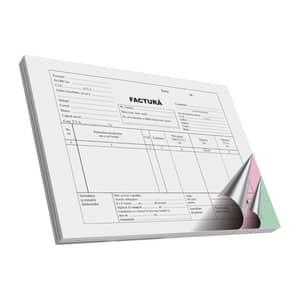 Facturier autocopiativ VOLUM, A5, 50 file x 3 carnete