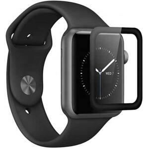 Folie Tempered Glass pentru Apple Watch Series 4 40mm, TELLUR Full Glue, TLL145153, 3D, negru
