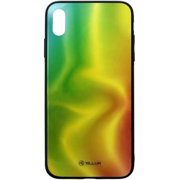 Carcasa pentru Apple iPhone Xs Max, TELLUR Glass print Silk, TLL121365, multicolor