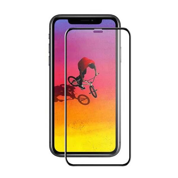 Folie Tempered Glass pentru Apple iPhone 11, TELLUR Full Glue, TLL145303, 3D, negru