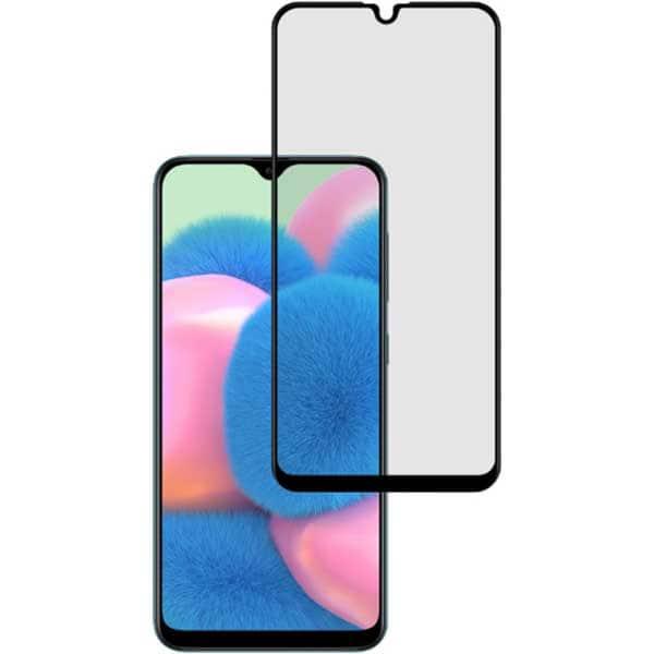 Folie Tempered Glass pentru Samsung Galaxy A30s, TELLUR Full Glue, TLL145755, 2.5D, negru