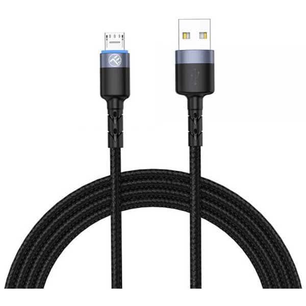 Cablu date TELLUR TLL155353, microUSB, 1.2m, negru