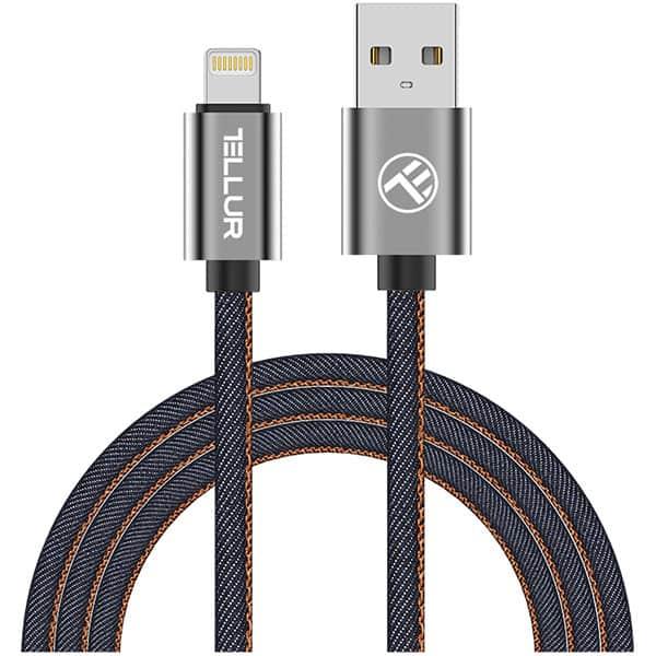 Cablu date TELLUR TLL155391, Lightning, 1m, albastru