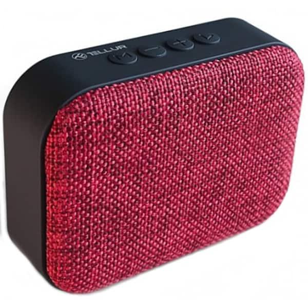 Boxa portabila TELLUR Calisto TLL161041, Bluetooth, radio FM, MicroSD, rosu