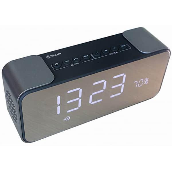 Boxa portabila TELLUR Hydra TLL161081, Bluetooth, Ceas, Radio FM, MicroSD, Negru