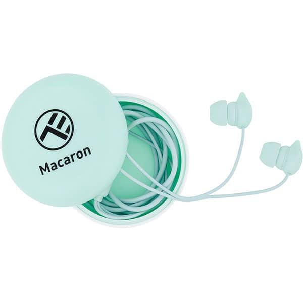 Casti TELLUR Macaron TLL162132, Cu fir, In-Ear, Microfon, albastru