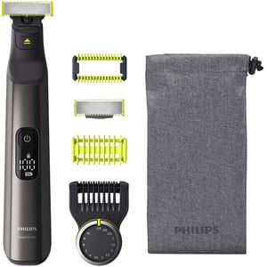 Aparat de tuns barba PHILIPS OneBlade Pro QP6550/15, acumulator, 120 min autonomie, negru