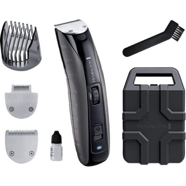 Aparat de tuns barba REMINGTON MB4850 Virtually Indestructible, acumulator, 120 min autonomie, negru-gri