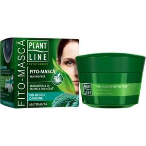 Masca de fata matifiante PLANT LINE, 45ml