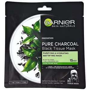 Masca de fata GARNIER Pure Charcoal Black Tissue Mask, 28g